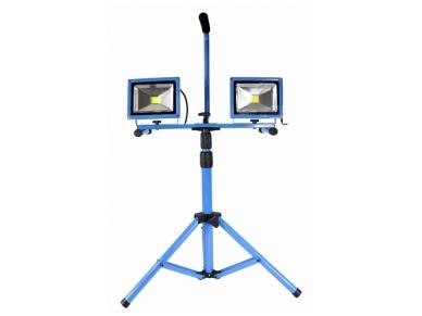 LED prožektorius 30W su reguliuojamu stovu