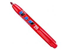 Rašalo markeris Dura-Ink 20, automatinis, raudonas, 1.5mm