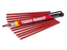 Žymeklis Trades-Marker, ištraukiamas, raudonas, 12kreidelių