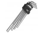 Šešiakampių ilgų raktų komplektas 9 dalių, 1,5-10 mm