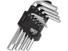Šešiakampių raktų komplektas 9 dalių, 1,5-10 mm