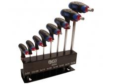 Šešiakampių raktų rinkinys Hex 2-10 mm
