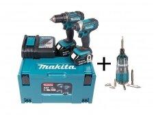 Akumuliatorinių įrankių komplektas Makita DDF482 + DTD152 2x4,0Ah 18V + DOVANA