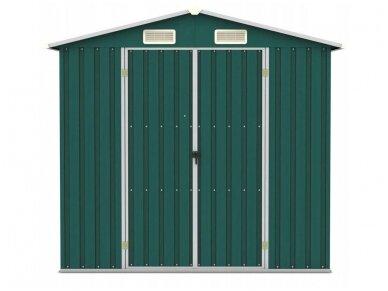 Bass sandėliavimo namelis 2,6 x 2,6 x 1,9 m, žalios spalvos 2