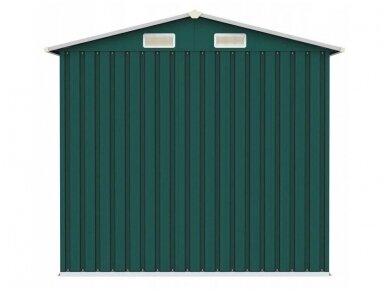 Bass sandėliavimo namelis 2,6 x 2,6 x 1,9 m, žalios spalvos 3