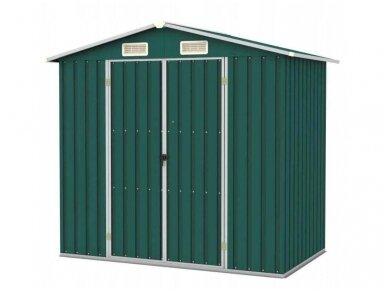 Bass sandėliavimo namelis 2,6 x 2,6 x 1,9 m, žalios spalvos