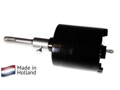 Deimantinė karūna rozetėms 82mm M16 su Turbo segmentu darbui su siurbliu
