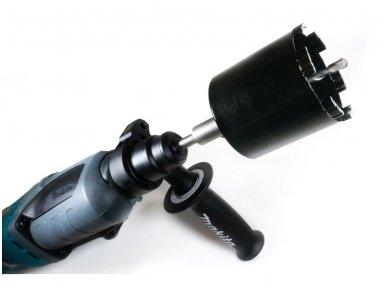 Deimantinė karūna rozetėms 82mm M16 su Turbo segmentu darbui su siurbliu 3