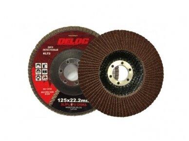 Delog KLT2 lapelinis šlifavimo diskas 125 x 22.2 mm