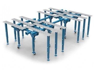 Didelio paviršiaus modulinis suvirinimo stalas, storis 15 mm, skylės skersmuo 28 mm