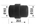 Sherman TW-24 Dujinis difuzorius, plastikas, juodas