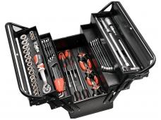 Įrankių rinkinys su metaline dėže, 63 vnt.