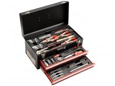 Įrankių rinkinys su metaline dėže ir stalčiais, 80 vnt.