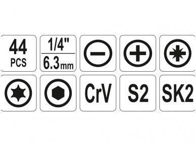 Įrankių rinkinys 44 vnt. 3