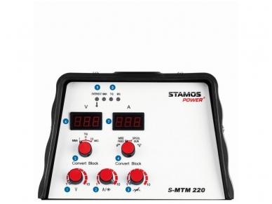 STAMOS S-MTM 22 Kombinuotas pusautomatis MIG/ TIG/MMA, 220A, 230V 4