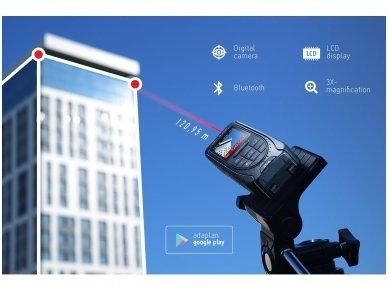 ADA Cosmo 120 Video Lazerinis atstumo matuoklis su skaitmeniniu vizyru, matavimo diapazonas iki 120 m 5