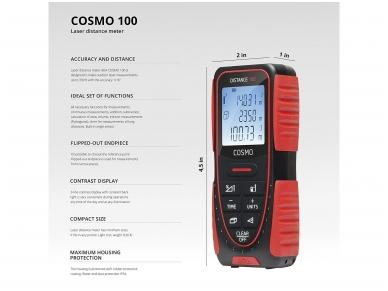 ADA COSMO 100 Lazerinis atstumų matuoklis, matavimo diapazonas iki 100 m 5