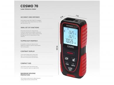 ADA COSMO 70 Lazerinis atstumų matuoklis, matavimo diapazonas iki 70 m 5