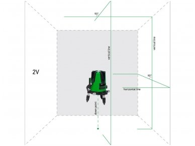 ADA 3D LINER 2V GREEN Lazerinis nivelyras 2