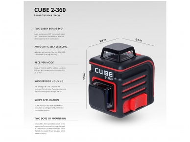 ADA Cube 2-360 Lazerinis nivelyras 11