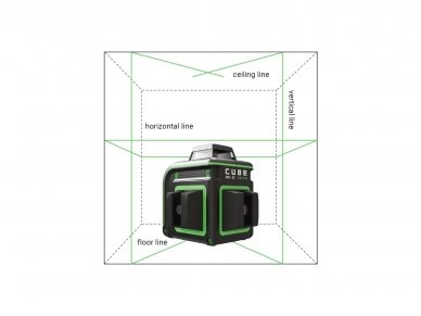 ADA CUBE 360 2V GREEN Lazerinis nivelyras Professional Edition 2