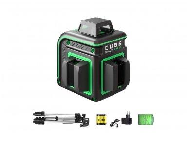 ADA CUBE 360 2V GREEN Lazerinis nivelyras Professional Edition