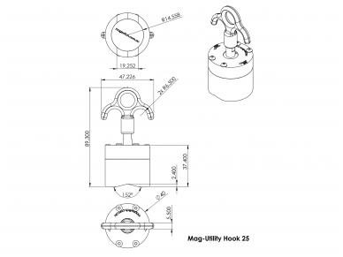 Magnetinis kablys Mag-Utility Hook 9