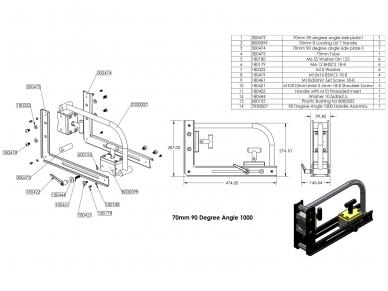 Magnetinis kampas 90° Angle 12