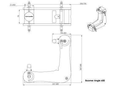 Magnetinis kampas Boomer Angle, reguliuojamas 10