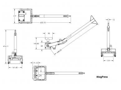Magnetinis laikiklis suspaudimui / išlyginimui Mag Press MS/500 5