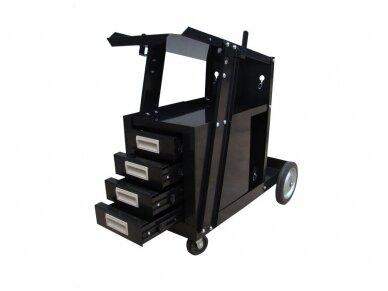 MIG suvirinimo vežimėlis su stalčiais 2