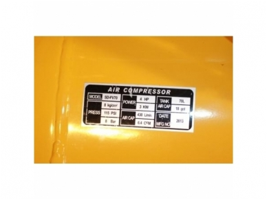 Oro kompresorius 70L, 230V 5