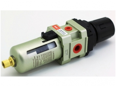Oro srauto reguliatorius su drėgmės filtru 3/8'', 1700 l/min