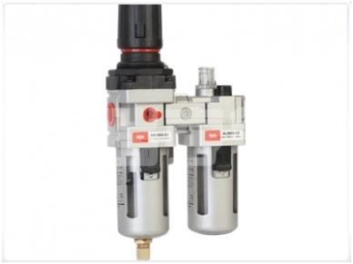 Oro srauto reguliatorius su drėgmės filtru ir tepaline 3/8'', 1700 l/min