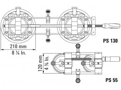 Plokščių sutempimo įrankis Bessey PS 130 9