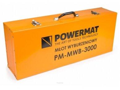 Powermat atskėlimo plaktukas PM-MWB-3000, SDS-HEX, 3000W, 45J 9