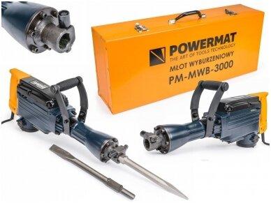 Powermat atskėlimo plaktukas PM-MWB-3000, SDS-HEX, 3000W, 45J