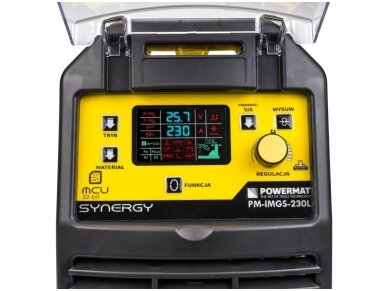 Powermat sinerginis pusautomatis PM-IMGS-230L SYNERGY, 230A, 230V, MIG/MAG/MMA/LIFT-TIG 7