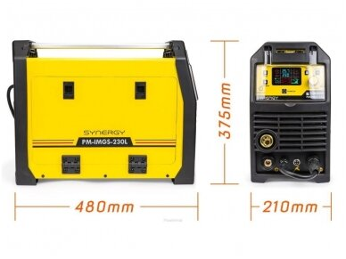Powermat sinerginis pusautomatis PM-IMGS-230L SYNERGY, 230A, 230V, MIG/MAG/MMA/LIFT-TIG 8