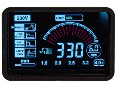 Powermat suvirinimo aparatas MMA PM-IMGT-330S LCD, 330A, 230V 11