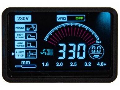 Powermat suvirinimo aparatas MMA PM-IMGT-330S LCD, 330A, 230V 13