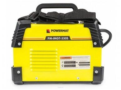 Powermat suvirinimo aparatas MMA PM-IMGT-330S LCD, 330A, 230V 5