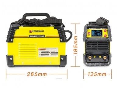 Powermat suvirinimo aparatas MMA PM-IMGT-330S LCD, 330A, 230V 7