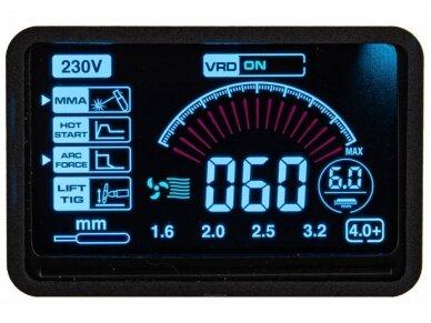 Powermat suvirinimo aparatas MMA PM-IMGT-330S LCD, 330A, 230V 9