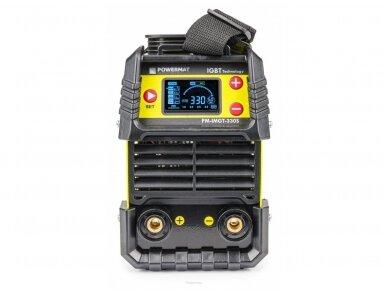 Powermat suvirinimo aparatas MMA PM-IMGT-330S LCD, 330A, 230V 2