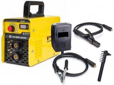 Powermat suvirinimo aparatas MMA PM-MMA-260SN, 260A, 230V