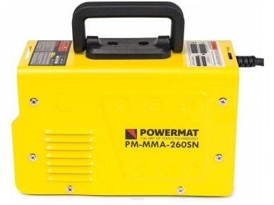 Powermat suvirinimo aparatas MMA PM-MMA-260SN, 260A, 230V 4