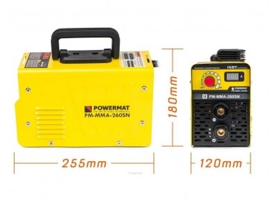 Powermat suvirinimo aparatas MMA PM-MMA-260SN, 260A, 230V 10