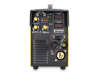 Powermat suvirinimo pusautomatis PM-IMG-220T, 220A, 230V, MIG/MAG/TIG/MMA 3