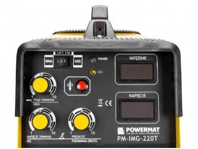 Powermat suvirinimo pusautomatis PM-IMG-220T, 220A, 230V, MIG/MAG/TIG/MMA 11